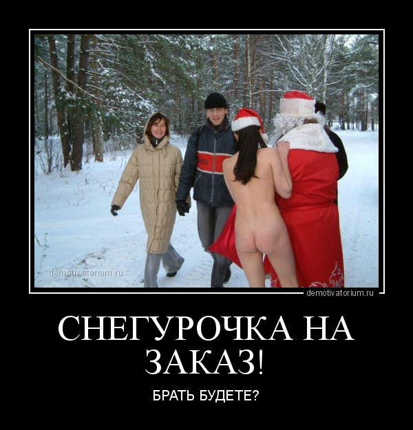 демотиватор СНЕГУРОЧКА НА ЗАКАЗ! БРАТЬ БУДЕТЕ? - 2015-1-02