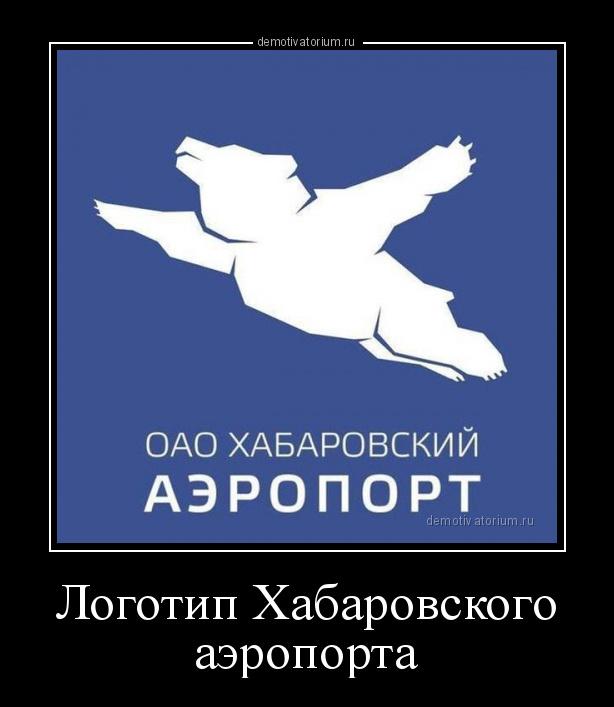 демотиватор Логотип Хабаровского аэропорта  - 2015-1-28