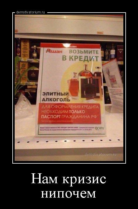 демотиватор Нам кризис нипочем  - 2015-1-28