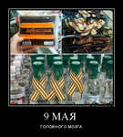 Демотиватор 9 МАЯ ГОЛОВНОГО МОЗГА
