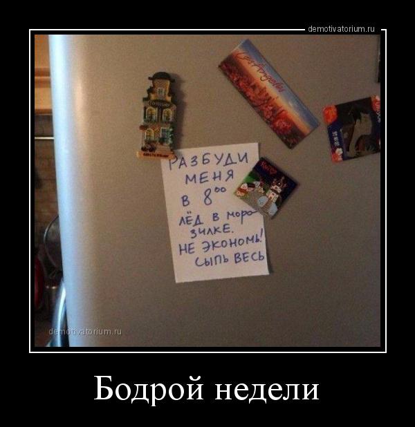 демотиватор Бодрой недели  - 2016-3-21