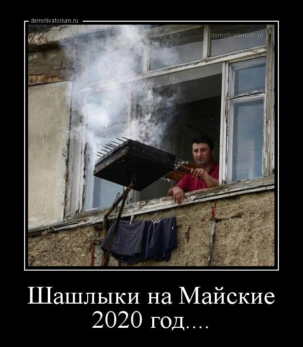 демотиватор Шашлыки на Майские 2020 год....  - 2020-4-06