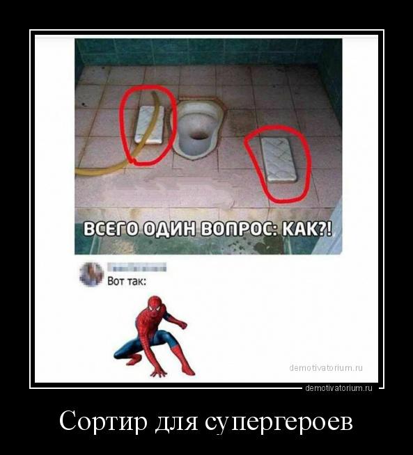 демотиватор Сортир для супергероев  - 2020-6-25