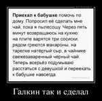 Демотиватор Галкин так и сделал  - 2020-12-09